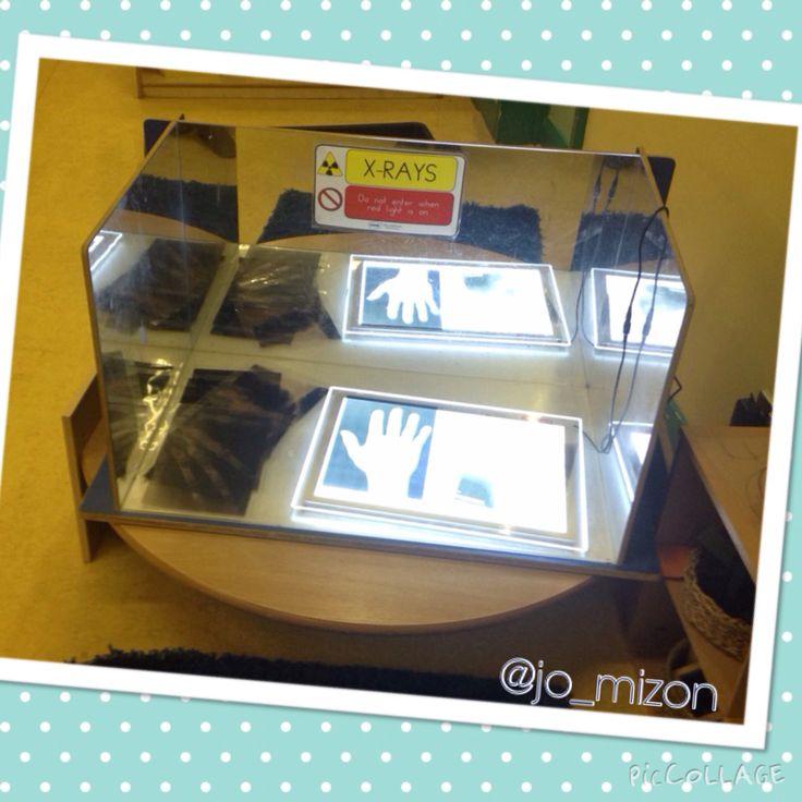 X-Rays printed onto acetate on the light table. People who help us. Doctors, nurses, hospital.