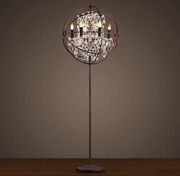 Wonderful Upside Down Chandelier Floor Lamp   Restoration Hardware