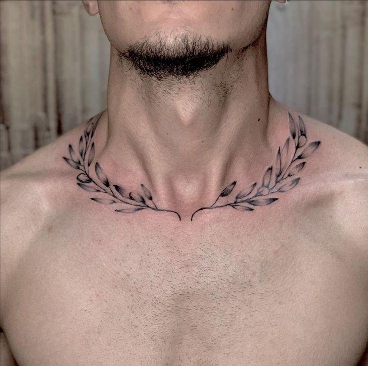 Torso Tattoos, Vine Tattoos, Full Arm Tattoos, Neck Tattoos, Star Tattoos, Body Art Tattoos, Sleeve Tattoos, Collar Bone Tattoo For Men, Collar Tattoo