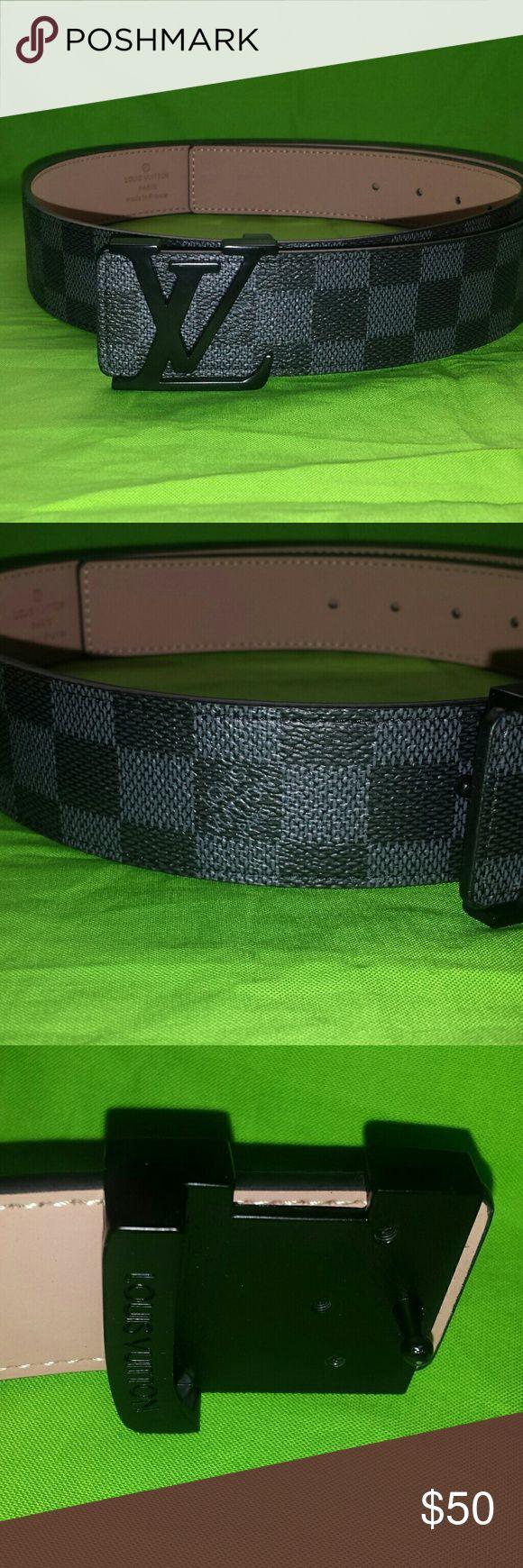 Louis Vuitton belt Mens Black Louis Vuitton belt  Size 32-36 Louis Vuitton Accessories Belts