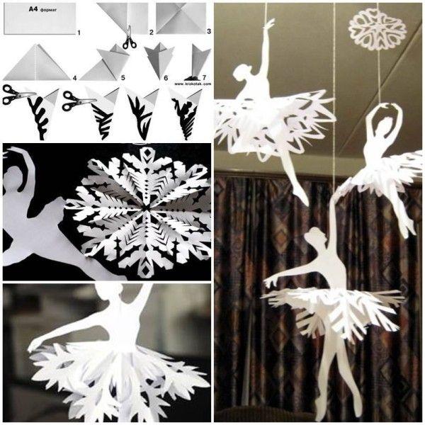 Easy Paper Straw Snowflakes
