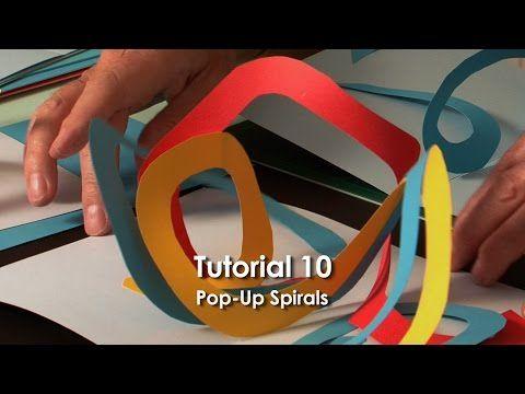 Pop-Up Tutorial 10 - Pop-Up Spirals - YouTube