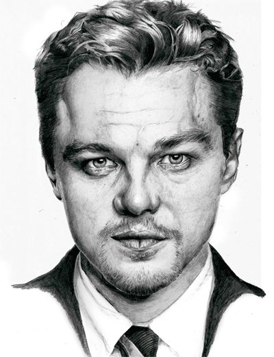 Drawing of The Wolf of Wall Street star Leonardo Dicaprio - approximately 40 hours to complete.