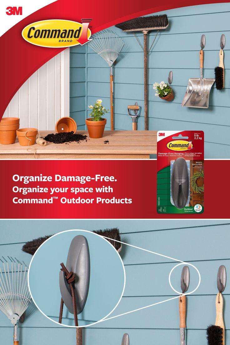 Command outdoor hooks decor hanging wreath garage