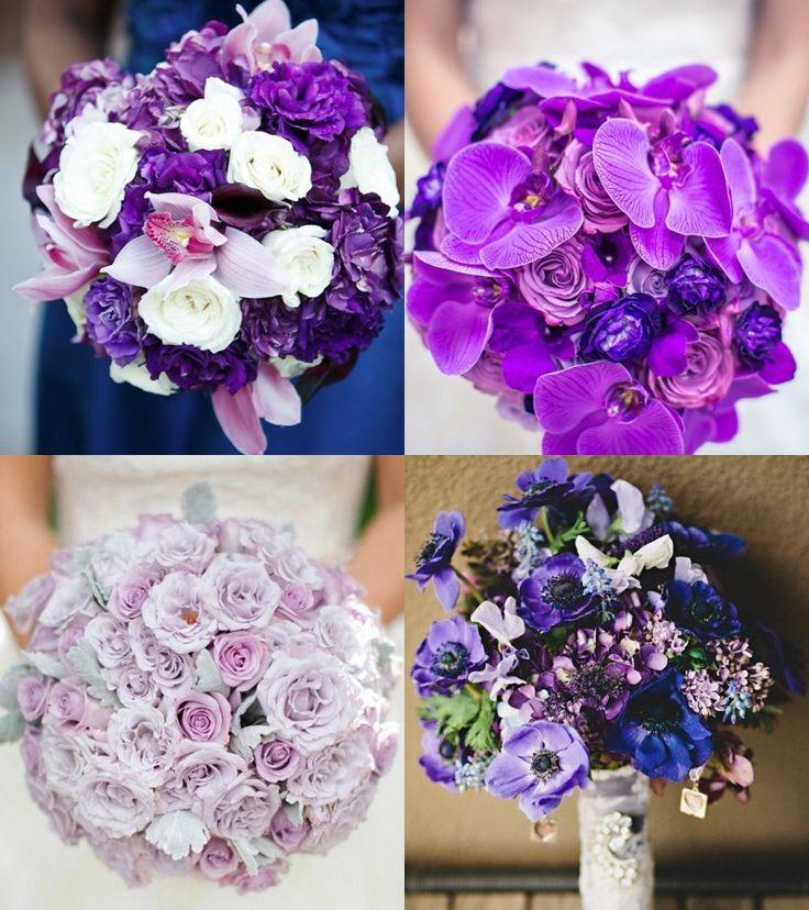Purple bridal bouquet ideas.