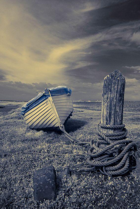 Porlock Boat, boat, cloudy sky, image, beauty, photo