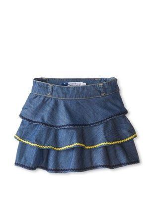 50% OFF Silvian Heach Girl's Denim Skirt with Ric Rac (Denim)