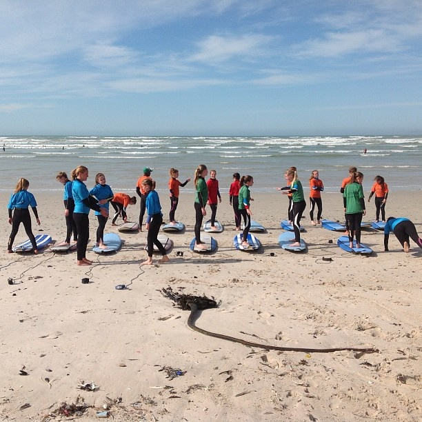 The girls from Thomas Clapham ready for a surf. - @surfshack_capetown- #webstagram