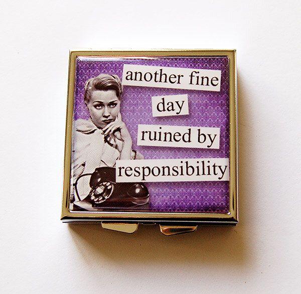 Square Pill case, Funny pill box, Secret Santa gift, Square Pill box, Pill Case, Funny pill case, Pill Box, humor, Purple, Retro (5225) by KellysMagnets on Etsy https://www.etsy.com/listing/249273610/square-pill-case-funny-pill-box-secret