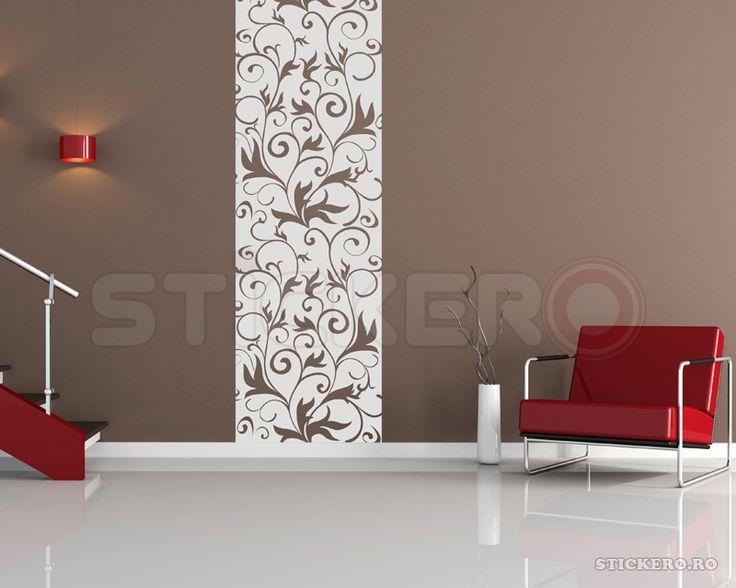 Sticker de perete Coloana Florala - stickere decorative