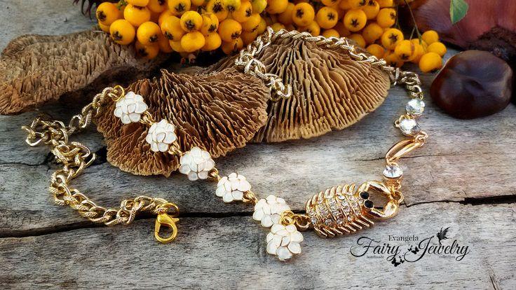 collana scorpione alluminio dorata regolabile , by Evangela Fairy Jewelry, 15,00 € su misshobby.com