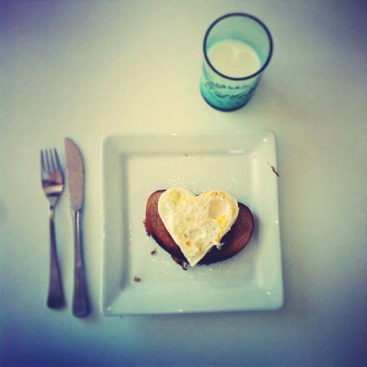 #food #love ##heart #breakfeast