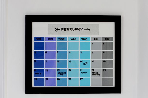 25 Best Ideas About Paint Chip Calendar On Pinterest
