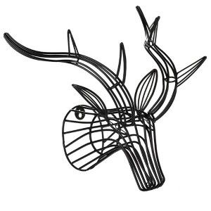 Wire Stag Head