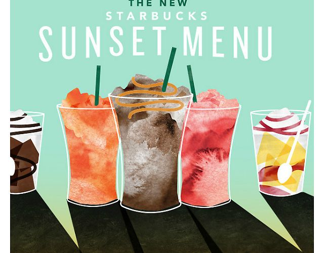 New Starbucks Sunset Menu (After 3 PM Daily) Offer (starbucks.com)