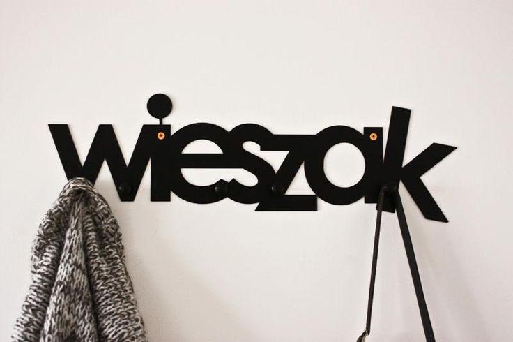 WIESZAK Coat Rack Wall / Hanger / Find us on https://www.facebook.com/Lumikki.design