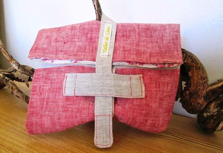 LINEN ARTISAN:Fold over Clutch  for your bag or luggage
