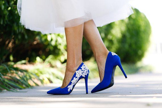 Blue Wedding Shoes For Bride High Heels Bridal Shoes Bridesmaid
