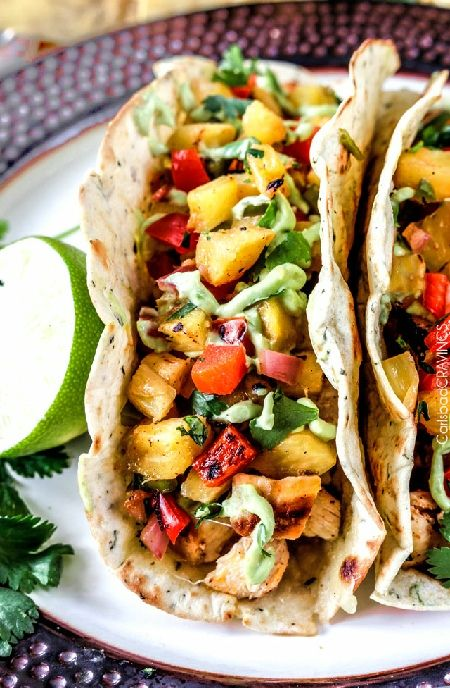 Low FODMAP Recipe and Gluten Free Recipe - Chipotle chicken tacos with pineapple salsa   http://www.ibs-health.com/low_fodmap_chipotle_chicken_tacos_pineapple_salsa.html