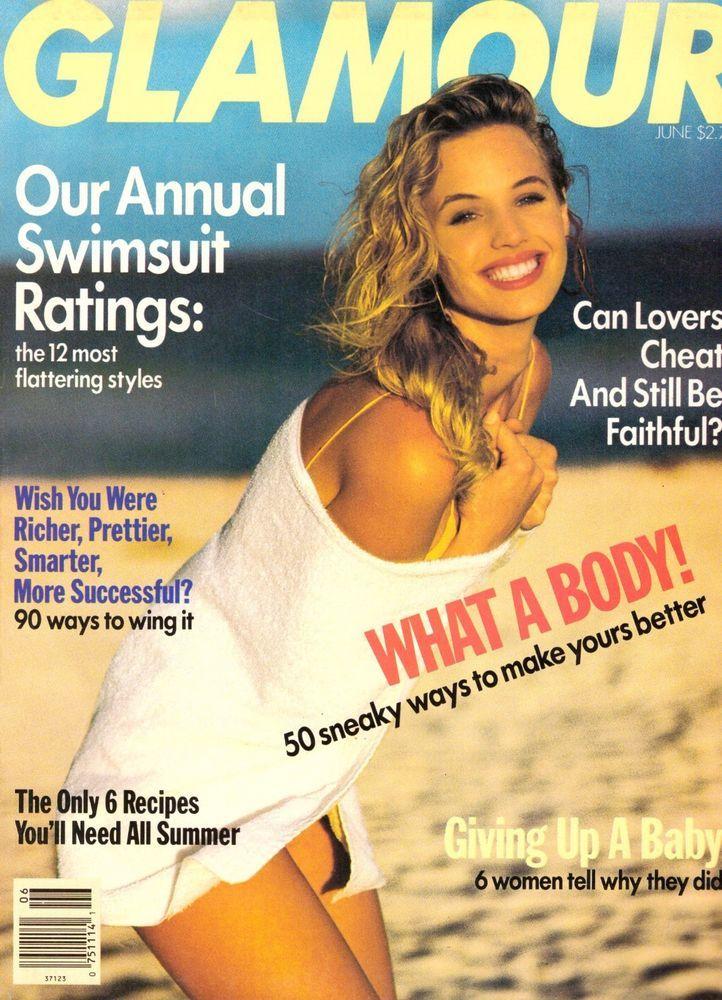 1990 Glamour Magazine Joanna Rhodes Ann Magnuson Swimsuits Fashion Vintage 90s | eBay