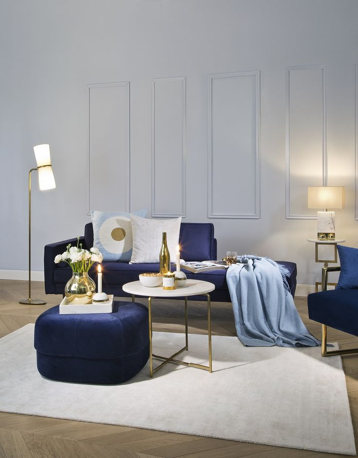 1000 besten Shop the Look Bilder auf Pinterest Funktioniert - wohnzimmer blau gold