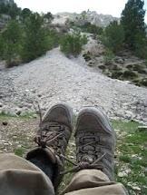 Rutas de senderismo: Botas sucias, la pedrera en La Sagra.