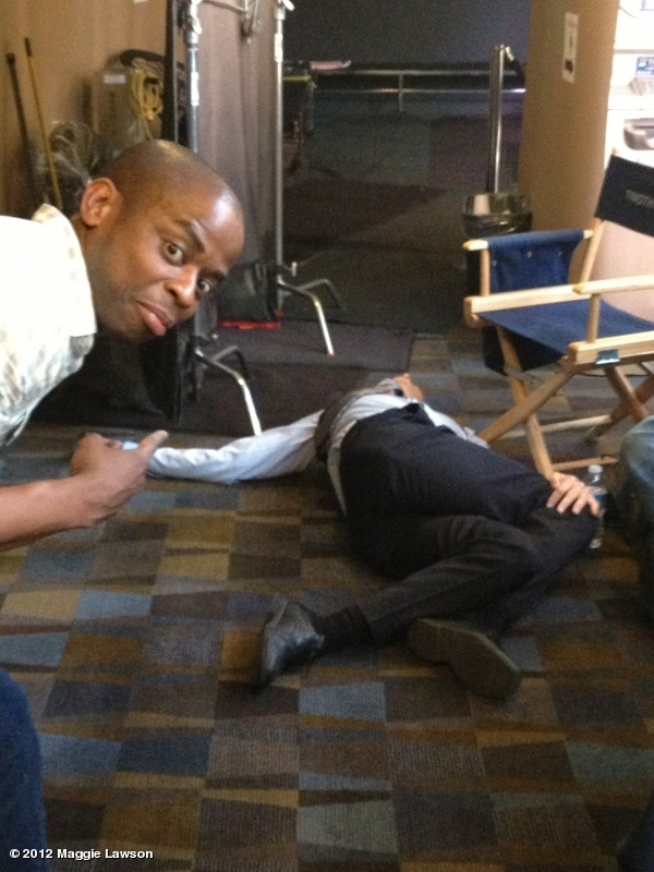 "Maggie Lawson: ""Hey @DuleHill  and @Psych_USA what in THE hell is @Omundson doing here?!!#psychmusical"""