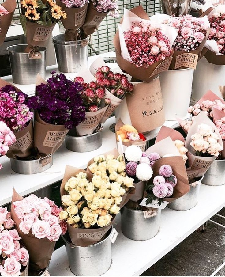 Beautiful Market Flowers Flower Shop Design Planting Flowers Flower Shop