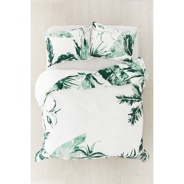 Expressive Palms Duvet Cover ($99) ❤ liked on Polyvore featuring home, bed & bath, bedding, duvet covers, king palm, twin xl duvet insert, floral bedding, twin xl bedding and twin extra long duvet insert