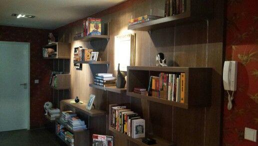 Bookcase - removable shelves #dbdesign