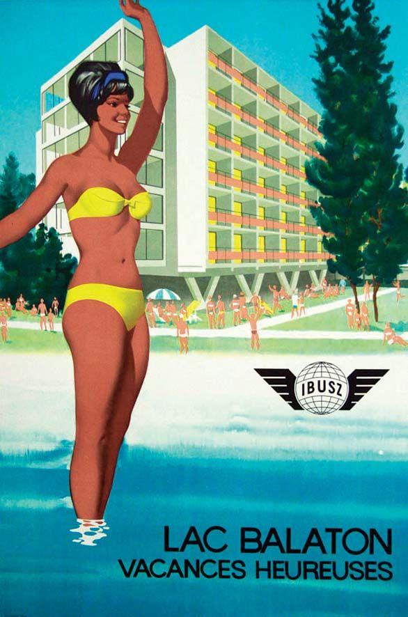 Lac Balaton, vacances heureuses - Ibusz - 1950's -