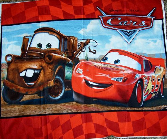 Disney Cars Tow Mater And Lightening Mcqueen Red Quilt