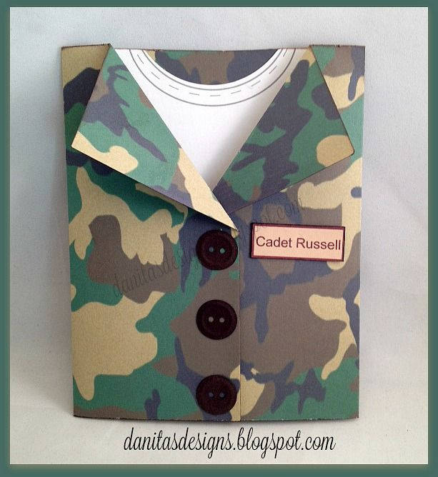 Card Making Ideas For Men Part - 23: Card For Men Masculine Army Soldier ROTC Cadet Card Camo Card Military  Cards Camouflage Clothes Suit Jacket Tee T-shirt
