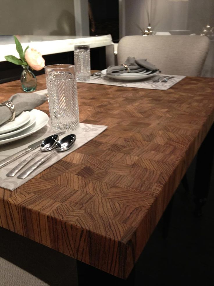 Custom Solid Wood Butcher Block Countertops, Island Tables