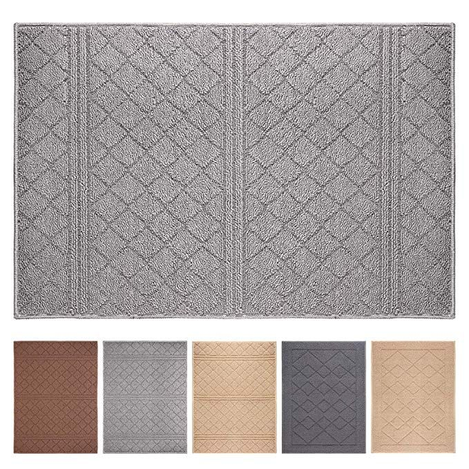 Indoor Doormat 24 X 36front Absorbent Door Mat Rubber Backing Non Slip Door Mats Inside Dirt Trapper Mats Entran Modern Doormats Rugs On Carpet Front Door Rugs