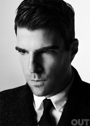 Zachary Quinto photographed by Michael Muller for my lastest cover of OUT