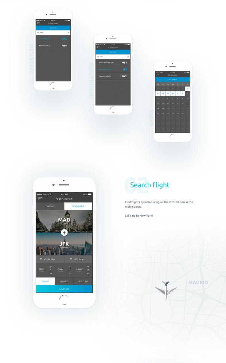 FlyAPP - Mobile App Design on Behance