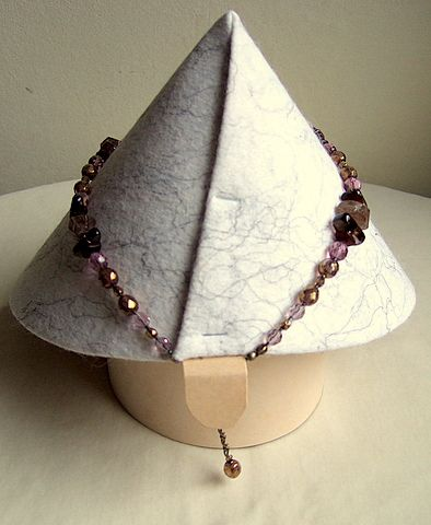 12. Display cone with leg back view. You need to attach a tab to tuck the necklace on so it stays put.   Flickr - Photo Sharing!