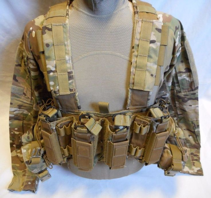 TACTICAL ASSAULT GEAR (TAG) INTREPID CHEST RIG WITH COMBAT SHIRT, MULTICAM, USED #TAG
