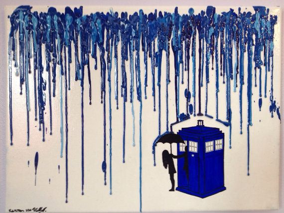 Doctor Who Melted Crayon Art