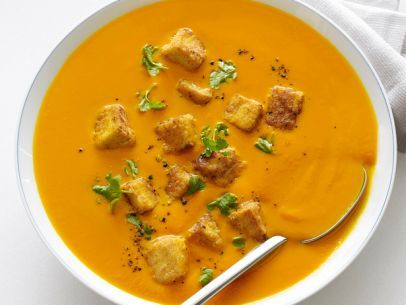 Carrot-Ginger Soup with Tofu