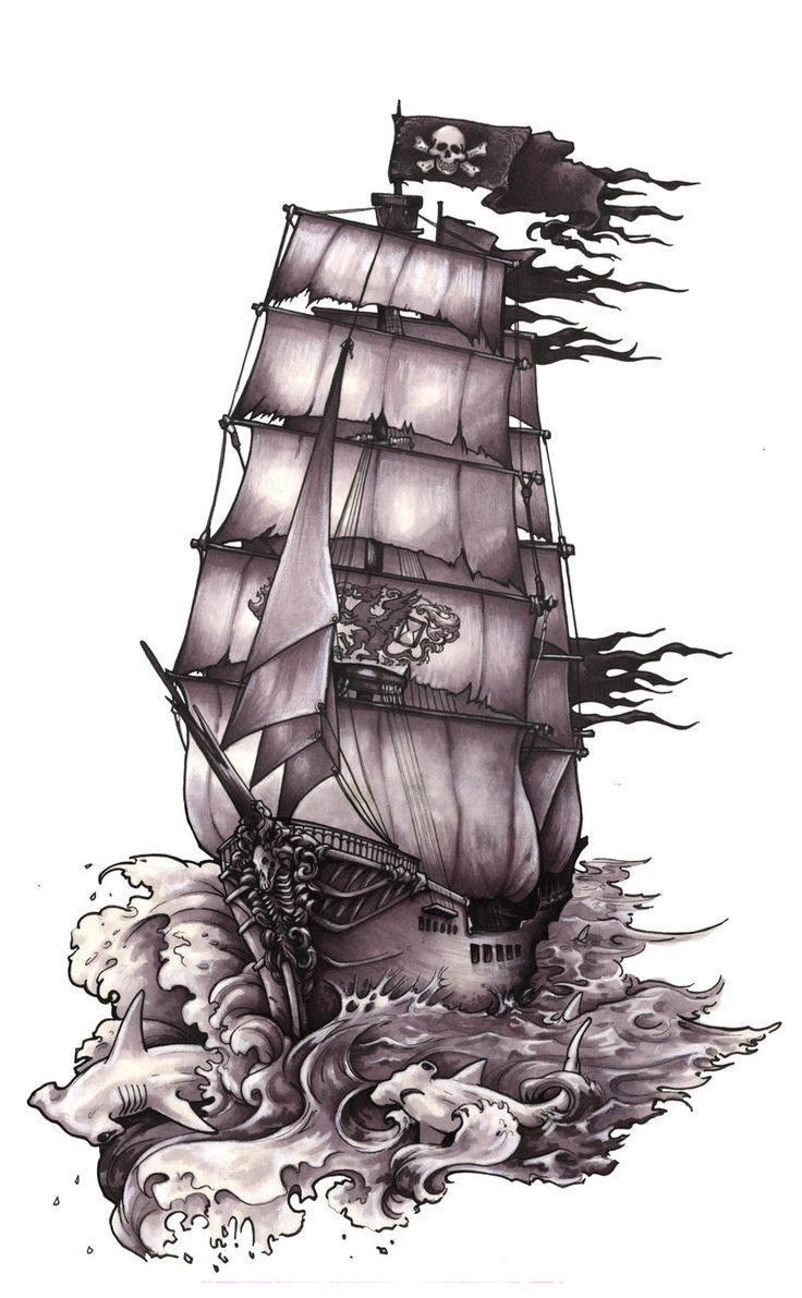 Фото и значение тату корабль