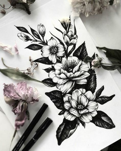 I love tattoos but I don't have any. I plan on getting one in the future, specifically flowers to represent my mom and grandmother.