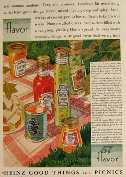 Vintage Food Ads - Heinz Condiments (1928)