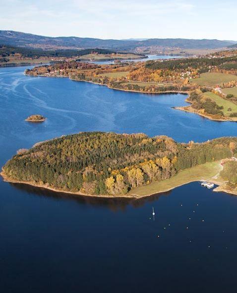 Lipno dam lake (South Nohemia), Czechia