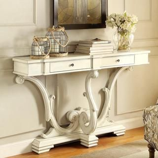 Nice French Sanctuary Design Antique White Accent Console Table