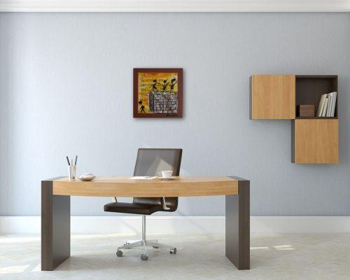 Tanzmalerei Nr. 652 Die Wand (2013) von Manuel Süess in einem Büro | Mehr dazu: http://art-by-manuel.com/de/nr.-652-die-wand-2013/