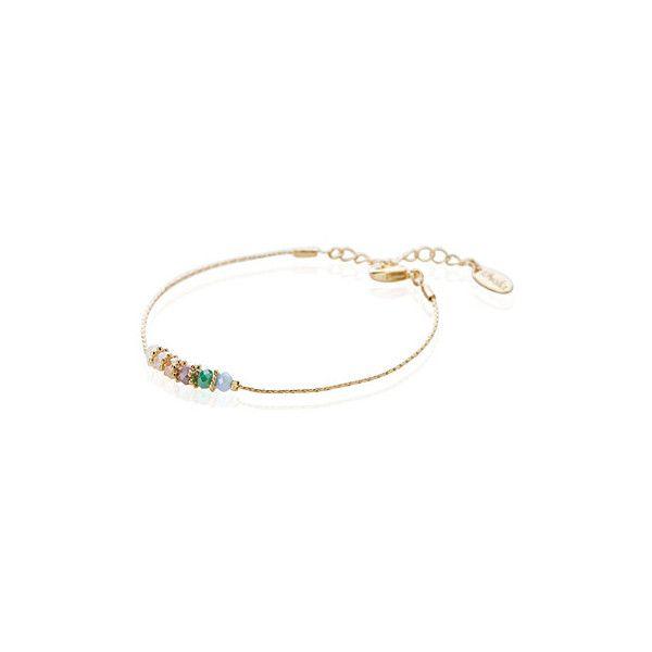 Orelia Pastel stone bracelet ($26) ❤ liked on Polyvore featuring jewelry, bracelets, stone jewellery, stone bangles, orelia, pastel jewelry and stone jewelry