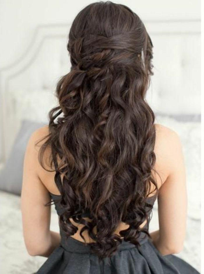 Best 25 casta o medio ideas on pinterest corte de pelo - Peinados de fiesta cabello largo ...