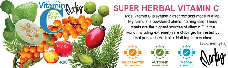 The Most-Powerful Herbal Vitamin C ~ There is no natural herbal vitamin C anywhere that even comes close to the power of these plant sources. Vitamin C helps convert cholesterol to adrenal hormones. Lack of vitamin C is one of the biggest reasons for collagen loss leading to wrinkles, aging, weakened arteries, and immune deficiency. Stress and stimulants like caffeine cause vitamin C deficiencies, so people in the modern world NEED vitamin C! Take as much of this stuff as you want.